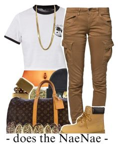 """""""*hits that nae nae*"""" by lulu-foreva ❤ liked on Polyvore featuring xO Design, In God We Trust, Louis Vuitton, G-Star Raw and Timberland"""