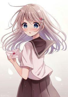 How Anime Helps Overcome Anxiety and Mental Illness - Kawaii😍 - Anime Neko, Manga Kawaii, Chica Anime Manga, Kawaii Anime Girl, Manga Girl, Anime Art Girl, Anime Girl Drawings, Manga Drawing, Cute Drawings