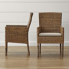 Possible kitchen chair option depending on what we do on the lanai. Tigris Dining Arm Chair and Natural Cushion.