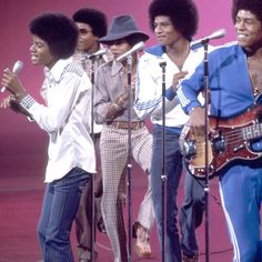 The Jackson 5 - back in the 80's -- at the Hollywood Bowl