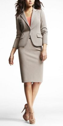 Express Studio Stretch Jacket and Pencil Skirt