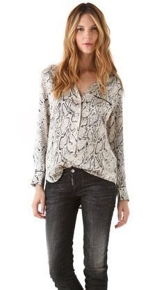 Equipment blouses are amazing. They are great for work, but rad with jeans and fun jewelry for a night out. They look so good effortlessly. They come in a wide range of colors and prints.
