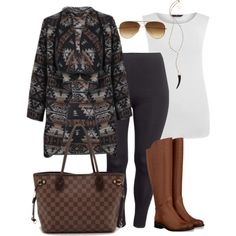 Aztec Sweater - Plus Size, created by alexawebb on Polyvore
