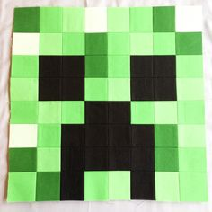 Have you started the Chicken or the Cow yet? I'm here today to share one of the most popular characters – the Creeper! This block was really fun to select colors for, and I think he tur… Minecraft Blanket, Minecraft Pattern, Minecraft Blocks, Minecraft Room, Minecraft Crafts, Creeper Minecraft, Minecraft Furniture, Minecraft Houses, Minecraft Stuff