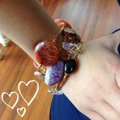 How do you wear your #Beau #bracelets?!? We love them stacked, of course!!! Now available at sweetbluegifts.com