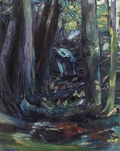 Luca De Angelis - Radice, 2014, olio su tela, 100x80cm