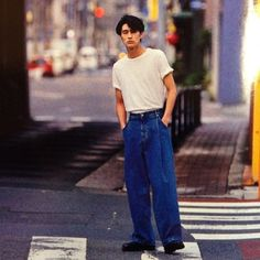 Designer Clothes, Shoes & Bags for Women 80s Fashion Men, Japan Fashion, Look Fashion, Vintage Fashion, Fashion Outfits, Fashion Tips, Levis Style, Japanese Street Fashion, Korean Fashion