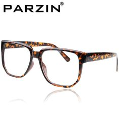 4b79d14dc90 Aliexpress.com   Buy Free Shiping Parzin Vintage Big Box Black Glasses Frame  Plain Mirror Frame Men Women Eyeglasses Frames Tiger from Relia.