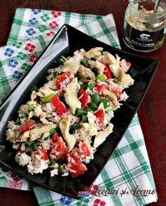 salata de orez cu pește Pasta Salad, Diabetes, Cooking, Ethnic Recipes, Food, Crab Pasta Salad, Kitchen, Essen, Meals