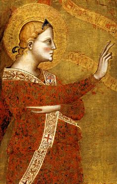Giovanni del Biondo (Italian, active 1356-1399 ~ The Archangel Gabriel ~ 1360-1370 ~ Italian Gothic ~ Giovanni del Biondo was a 14th-century Italian painter of the Gothic and early-Renaissance period ~  From tax records it is known that Giovanni del Biondo lived and flourished in Florence until his death. He specialized in religious-themed works, many of which have survived