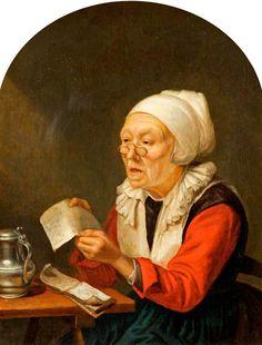 Gerrit Dou: zingende oude vrouw. ca. 1660-1675. The Wilson, Cheltenham Art Gallery and Museum, Cheltenham.