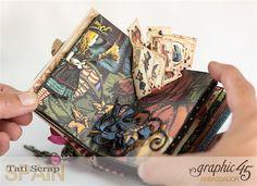 Tati Hallowe'en in Wonderland - Deluxe Collector's Edition Pop-Up Book Product by Graphic 45 Photo 15 Pop Up, Up Book, Book Art, Alice In Wonderland Crafts, Alice Book, Mini Album Tutorial, Book Sculpture, Paper Artwork, Foam Crafts