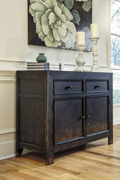 Shop Ashley Furniture Gavelston Black Accent Cabinet with great price, The Classy Home Furniture has the best selection of File Cabinets to choose from Simple Furniture, City Furniture, Country Furniture, Affordable Furniture, Accent Furniture, Furniture Design, Primitive Furniture, Furniture Movers, Furniture Ideas
