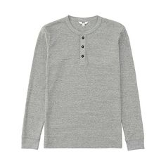 "Bought a Navy Henley just like this one from Uniqlo. They're super comfortable :""3"