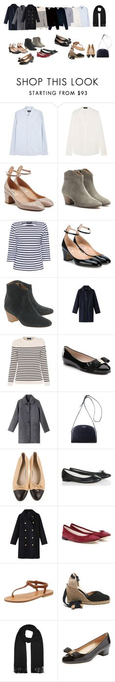 """Fashion goals"" by entonely on Polyvore featuring A.P.C., Theory, Valentino, Isabel Marant, Saint James, Classique, Étoile Isabel Marant, Salvatore Ferragamo, Repetto and K. Jacques"