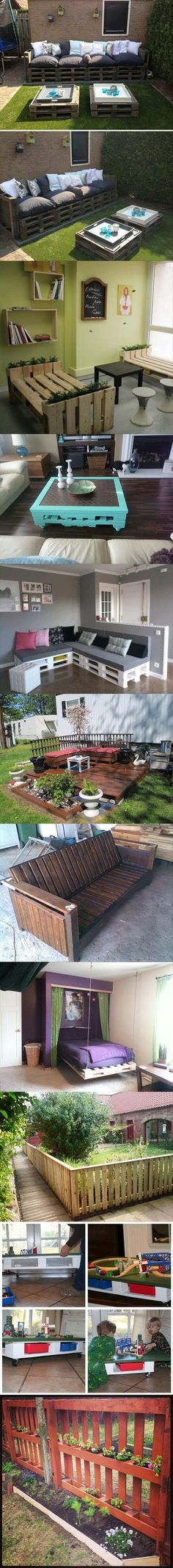 Amazing Uses For Old Pallets - DIY Projects… (Diy Furniture Crates) Pallet Crafts, Pallet Projects, Pallet Ideas, Home Projects, Diy Pallet, Old Pallets, Wooden Pallets, Outdoor Projects, Outdoor Decor