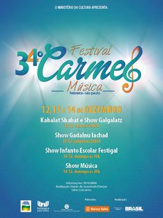 """Maior festival de dança judaica da América Latina, """"Carmel"""" terá 72 horas contínuas de dança, arte e música folclórica israelense ."""
