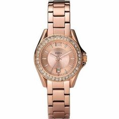 Fossil Ladies Rose Gold Tone Watch