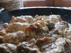 ARAIGNÉE DE PORC SAUTÉE À LA MOUTARDE Cauliflower, Yummy Food, Chicken, Vegetables, Cooking, Recipes, Diners, Yum Yum, Invite