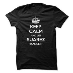 Keep Calm and Let SUAREZ Handle It - #hoodie upcycle #hipster sweater. OBTAIN => https://www.sunfrog.com/Names/Keep-Calm-and-Let-SUAREZ-Handle-It.html?68278