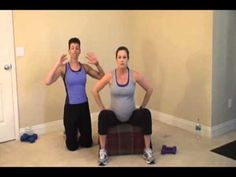 3rd Tri Workout 2: Welcome to a safe 30 minute workout for your Third Trimester (weeks 27-40).  Just grab some water, dumbbells, and a chair and youll be ready for some great exercises to help strengthen you and your baby!  Exercising throughout your pregnancy increases energy, improves your immunity, and relieves tension and stress!  Make sure you get your docto...