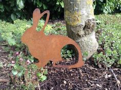 Rusty Metal Bunny Rabbit