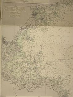 Original British Admiralty Sea Chart - United States East Coast Massachusetts Approaches To Boston Bay (Originally Published at the Admiralty 5th October 1899) Corrections to 1953 Circa 1954  A highly prized and collectable superb Gift for a Yachtsman  A fantastic totally original sea chart (not modern reprint) that would look superb, framed and hung in a contemporary apartment, house in any classical study. This chart was acquired from an antique sale in western England with many others…