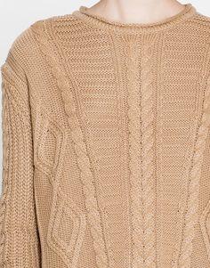 Sweter basic z warkoczami - Dzianina - Odzież - Dla Niej - PULL&BEAR Polska