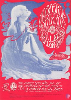 Moby Grape at Avalon Ballroom 1/13-13/67 by Stanley Mouse & Alton Kelley