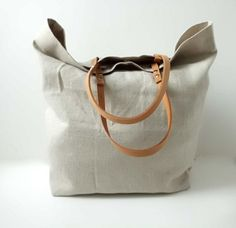 Love this linen bag - great for a casual weekend.