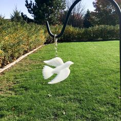 Dove Suncatcher personalized with your flower petals