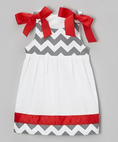 Take a look at this Red & Gray Zigzag Dress - Infant & Toddler by Caught Ya Lookin' on #zulily today!