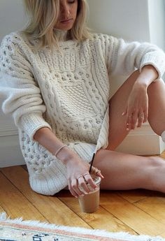 Knitting Cardigan Spring Outfit 46 Ideas For 2019 Knitwear Fashion, Knit Fashion, Girl Fashion, Fashion 2017, Cozy Sweaters, Cable Knit Sweaters, Knit Cardigan, Oversized Sweaters, Cosy Outfit