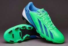 adidas F5 TRX FG Soccer Cleats - Green/White/Blue