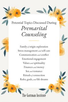 """""""These days, I view premarital counseling as preventative relational healthcare. It is a powerful tool for a better relationship, which in turn contributes to a happier and healthier life."""" What does premarital counseling actually look like? On the Gottman Relationship Blog, Hannah Eaton, LMFT discusses how a relationship therapist can get your lifetime of love off to a good start and offers tips to help you find a premarital counselor who will best match your unique needs. Better Relationship, Relationship Blogs, Relationships, Family Of Origin, Gottman Institute, John Gottman, Premarital Counseling, Best Start, Love Story"""