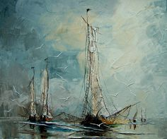"Saatchi Online Artist: Justyna Kopania; Oil, 2010, Painting ""Boats..."""