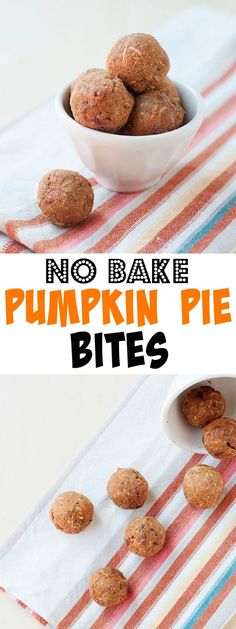 These no-bake pumpkin pie bites are super easy to make and great year round!