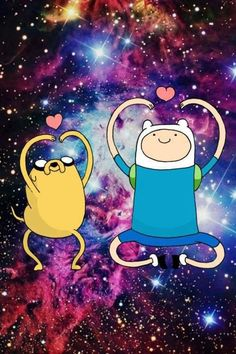 Finn & Jake <3  *****************************************this show is everything good and weird in the universe (+ the art style is awesome! *MATHEMATICAL :)*