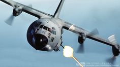 AC-130 ガンシップ 対地攻撃機 (40mm機関砲 105mm榴弾砲)