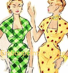 Plus Size (or any size) Vintage 1949 Wiggle Dress Sewing Pattern - PDF - Pattern No 63 Dale. $11.40, via Etsy.