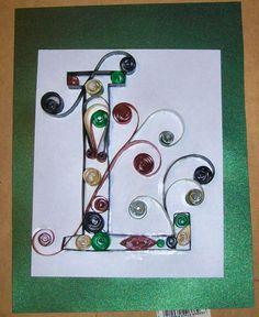 Quilled Monogram Letter!!