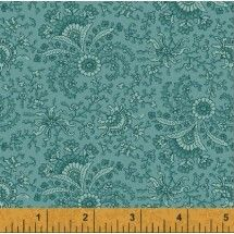Windham Fabrics Secrets and Shadows - Fan Floral - Teal #16-1458