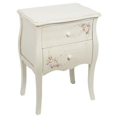 Great wooden #commode #floral www.inart.com