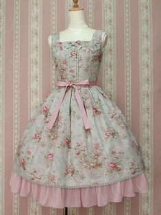 A lovely Lolita style Victorian dress perfect for a summer's day...