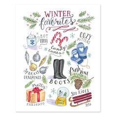 Winter Favorites - Print & Canvas