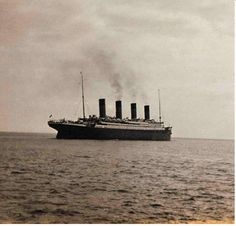 The last photograph of the Titanic afloat