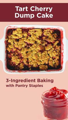 Dump Cake Recipes, Dessert Recipes, Frosting Recipes, Dump Cakes, Canning Cherry Pie Filling, Homemade Desserts, Easy Desserts, Recipe Sheets, Dump Meals