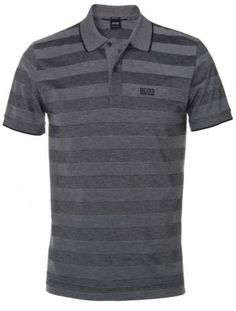 dfb5b0e78b Hugo Boss Black Firenze Grey Striped Cotton Polo Shirt #men'spolo #men's  #polo #guys