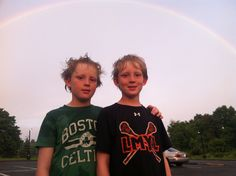 Rainbow, post-practice, Manhattanville College, June 2014. #lacrosse #2023 #mamaroneck #westtwins