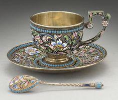 Tea Cup Set, Tea Cup Saucer, Tea Sets, Cute Tea Cups, Aluminum Foil Art, Teapots And Cups, Vintage Cups, Tea Service, Tea Party